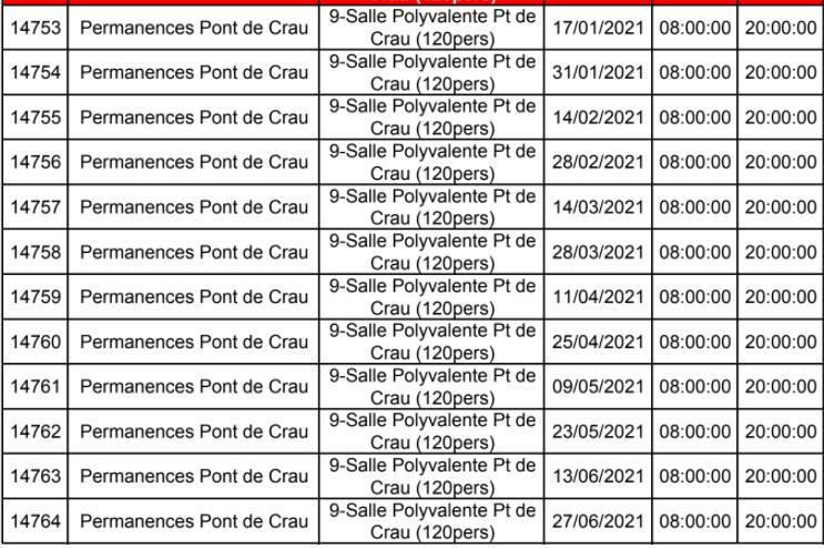CALENDRIER LIVE PCA 2021 -  .JANVIER 2021 à JUIN 2021 Perman12