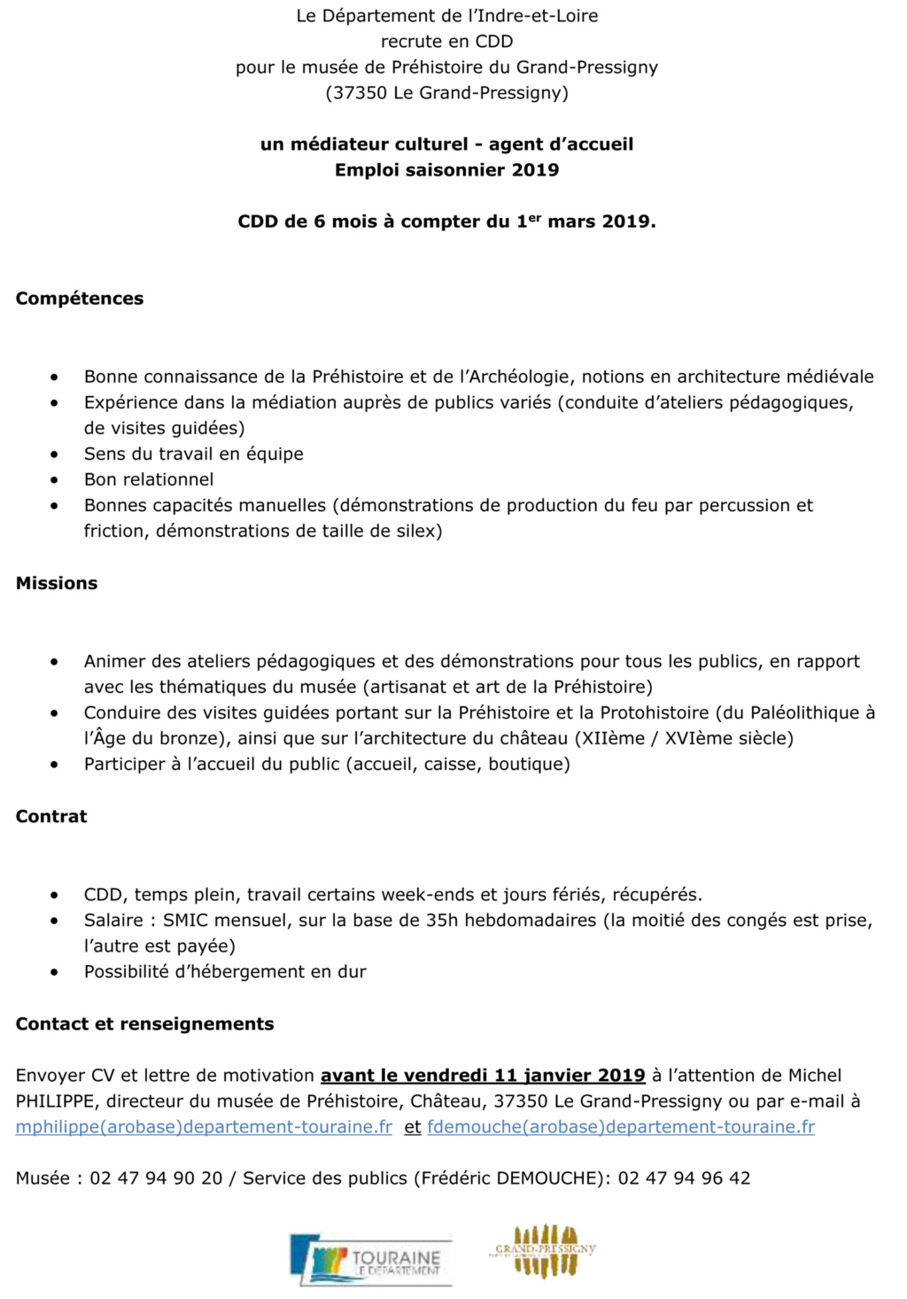 CDD médiation Musée du Grand-Pressigny (37) 2019 Cdd_me10