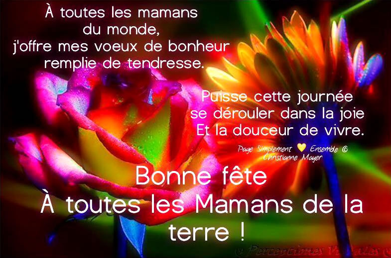 Bonne fête à toutes les mamans et journée nationale pour la Vie  69db6f10