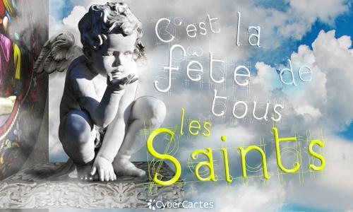 Premier novembre bonne fête de tous les saints B3041610
