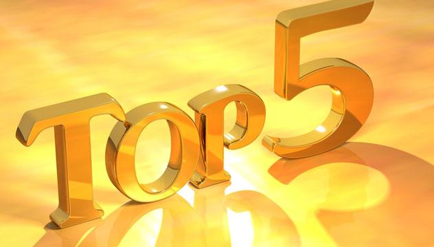 Le top 5 de vos acquisitations en 2018 Ttop510