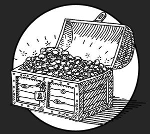 Illustration Malle aux trésors