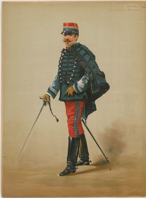 Le dolman dans l'armée française 1872-1914 Chasse10
