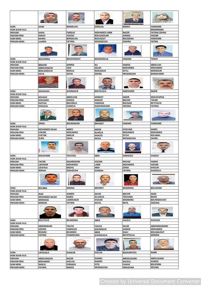 قائمة المستفيدين من السكن الاجتماعي بلدية قسنطينة جانفي 2019  1111