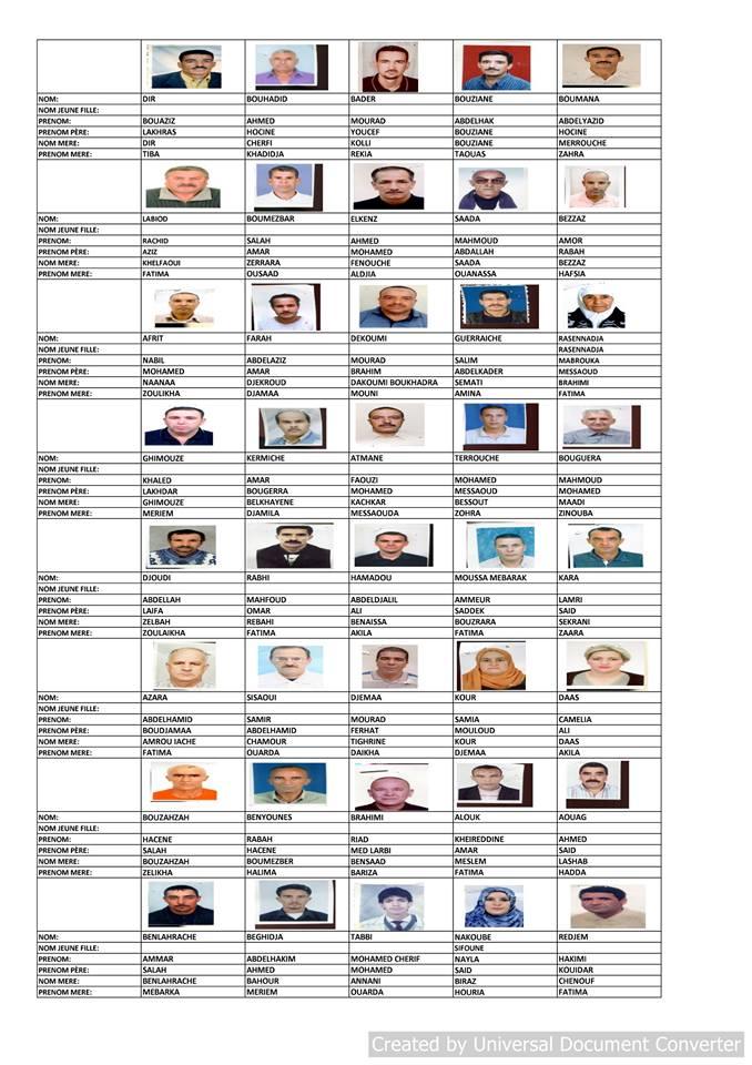 قائمة المستفيدين من السكن الاجتماعي بلدية قسنطينة جانفي 2019  1211