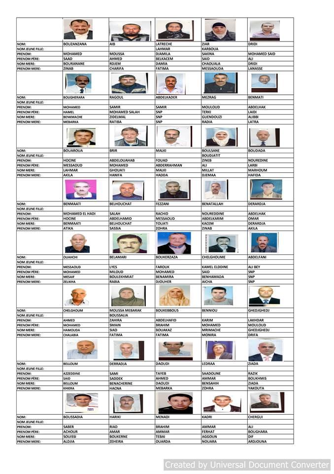 قائمة المستفيدين من السكن الاجتماعي بلدية قسنطينة جانفي 2019  1410