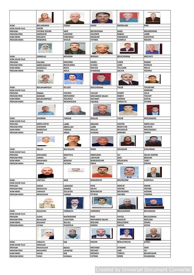 قائمة المستفيدين من السكن الاجتماعي بلدية قسنطينة جانفي 2019  1510
