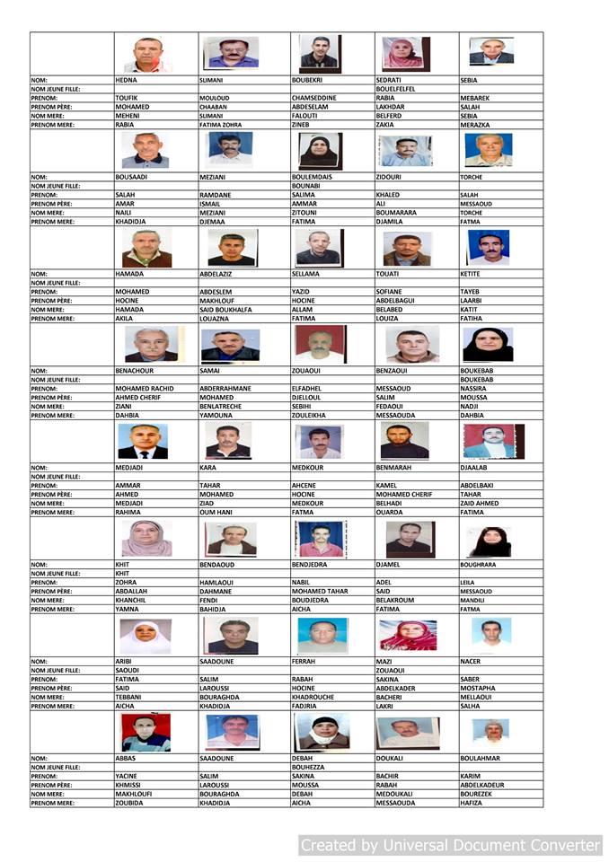 قائمة المستفيدين من السكن الاجتماعي بلدية قسنطينة جانفي 2019  211