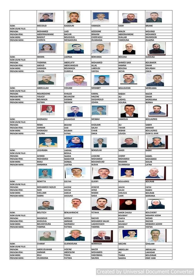 قائمة المستفيدين من السكن الاجتماعي بلدية قسنطينة جانفي 2019  2411