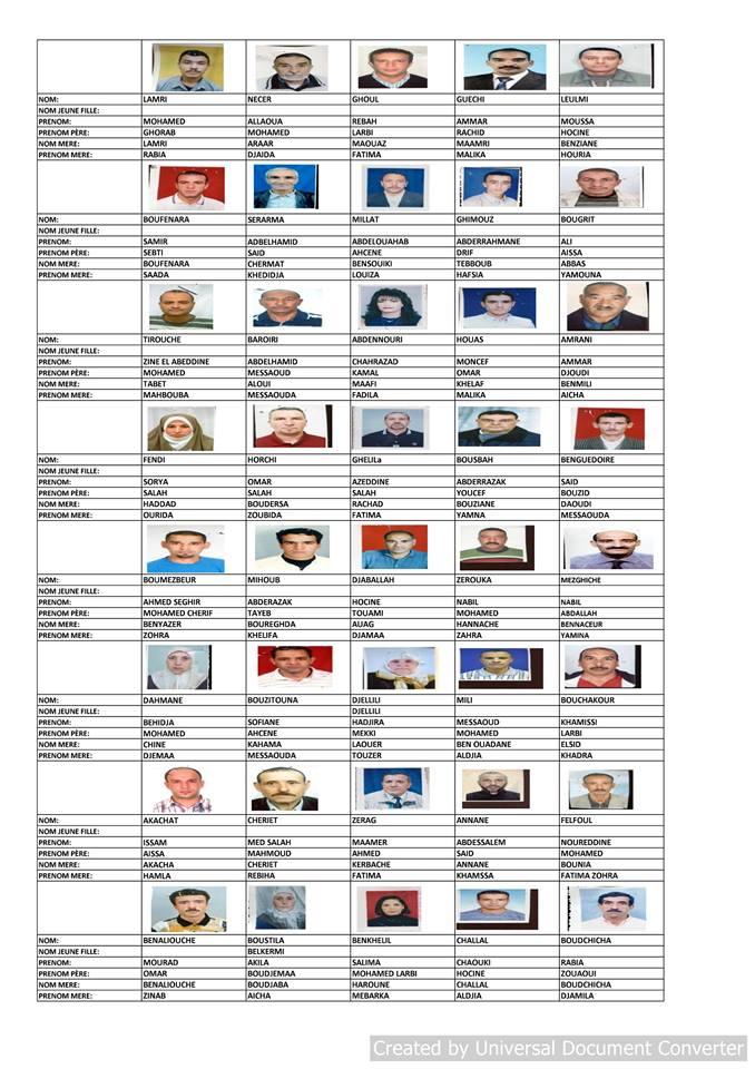 قائمة المستفيدين من السكن الاجتماعي بلدية قسنطينة جانفي 2019  2610