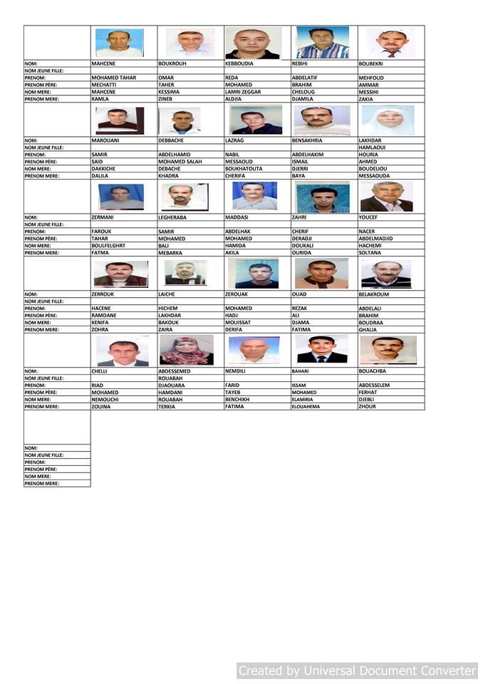 قائمة المستفيدين من السكن الاجتماعي بلدية قسنطينة جانفي 2019  610