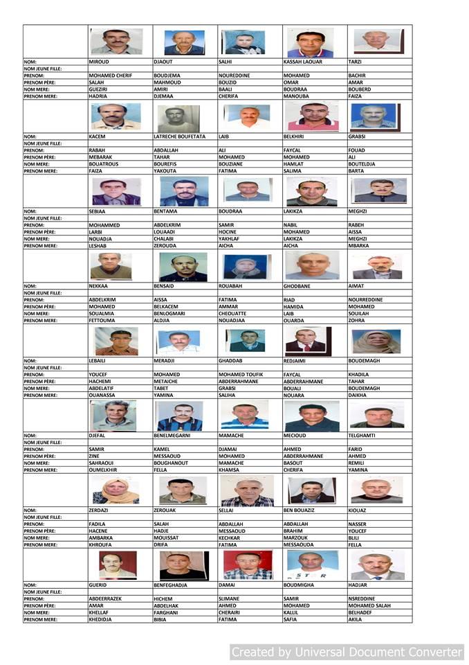 قائمة المستفيدين من السكن الاجتماعي بلدية قسنطينة جانفي 2019  710