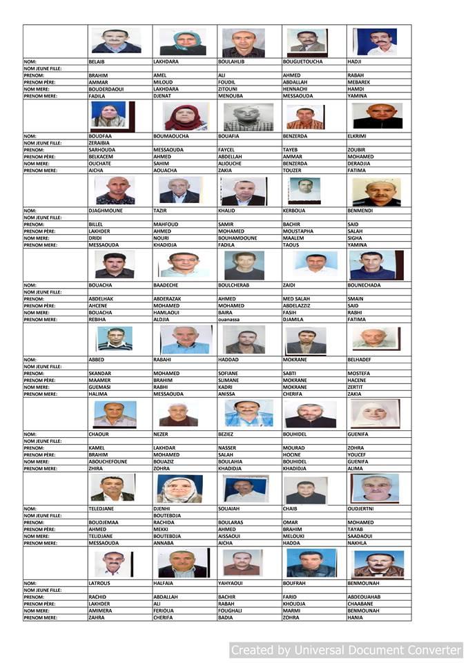 قائمة المستفيدين من السكن الاجتماعي بلدية قسنطينة جانفي 2019  810
