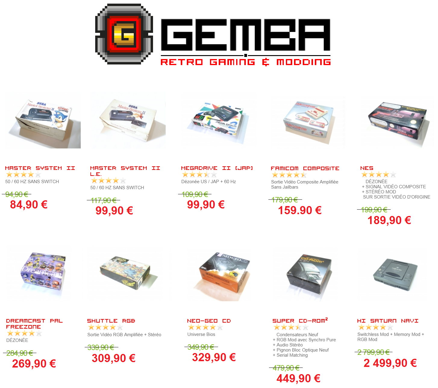 GEMBA - Retro Gaming & Modding - Le Coin NINTENDO - Page 3 Prix_c12
