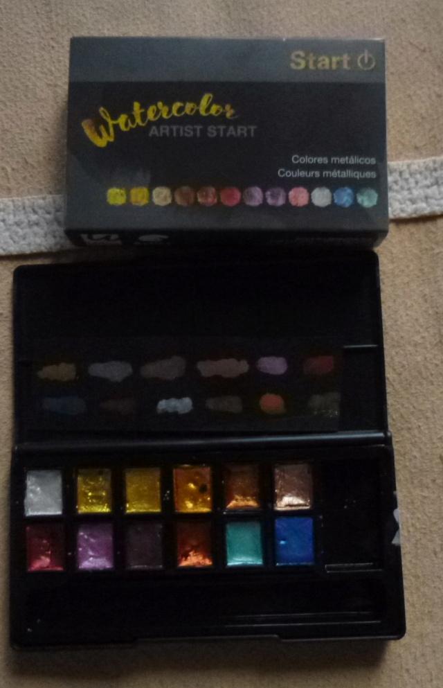Aquarelle Metallique Start Palett10