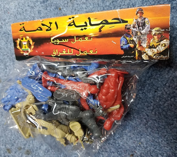 Plastic Iraqi Army toy figurines - PSYOP Product  20190212