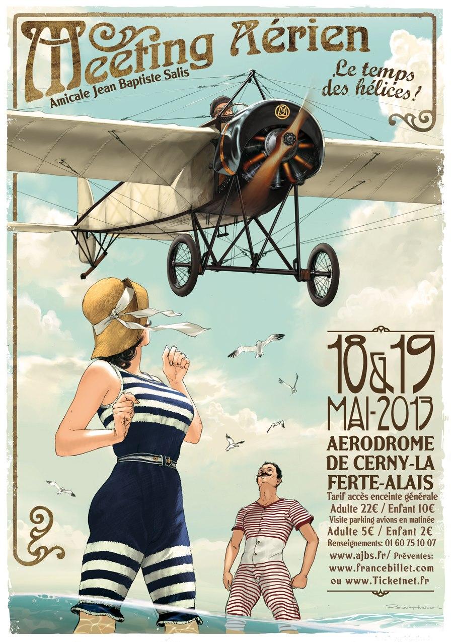 R.HUGAULT : ses affiches des meeting aériens de la Ferté-Allais 19c67d10