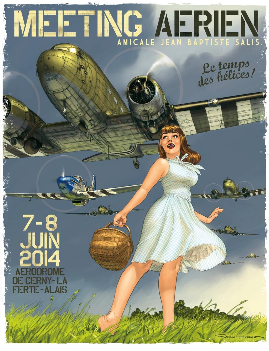 R.HUGAULT : ses affiches des meeting aériens de la Ferté-Allais 88542910