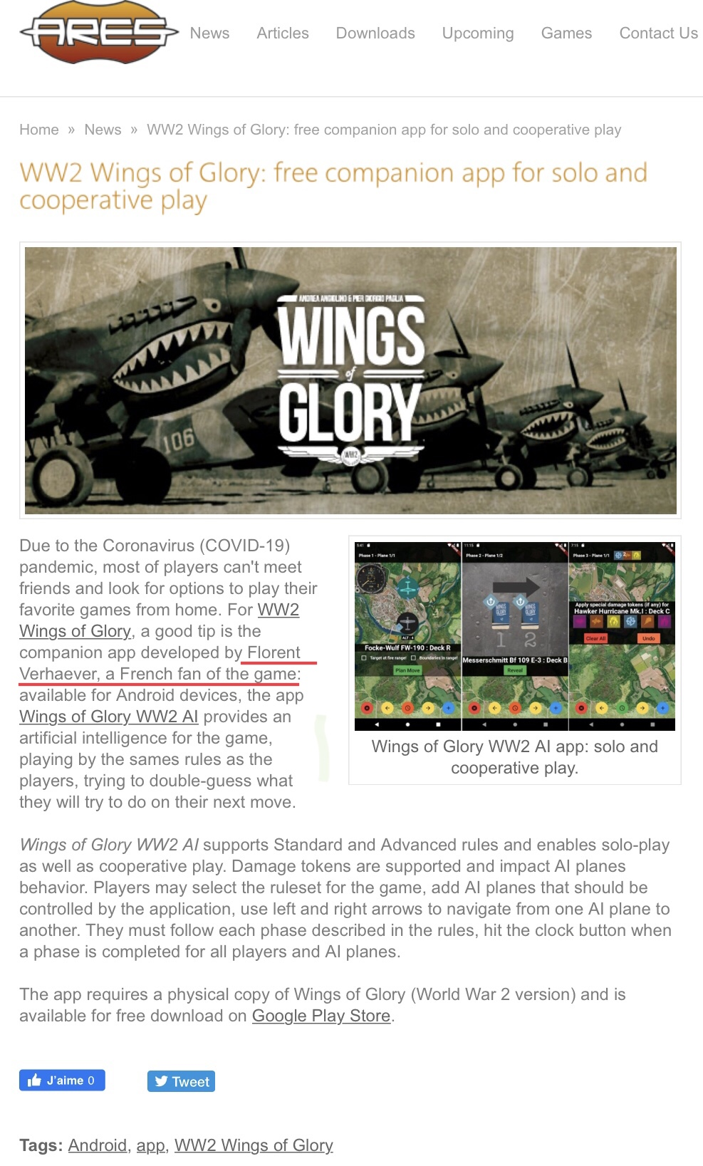 Application gratuite pour Wings of Glory WW2 A3f6a310