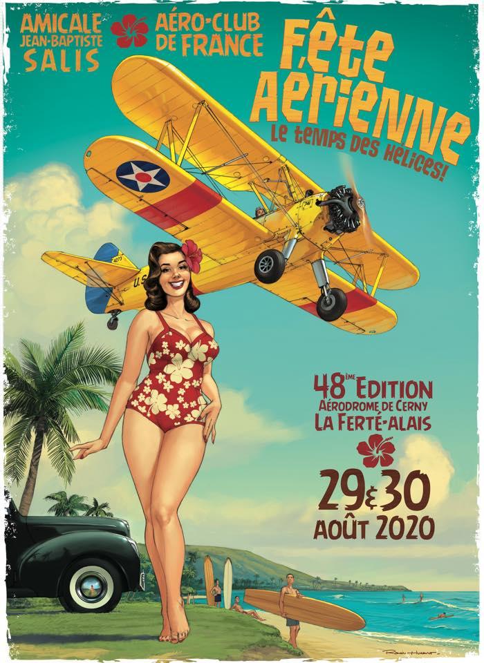 R.HUGAULT : ses affiches des meeting aériens de la Ferté-Allais Ce5dc310