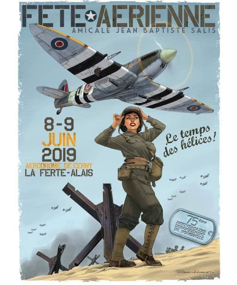 R.HUGAULT : ses affiches des meeting aériens de la Ferté-Allais Dce76e10