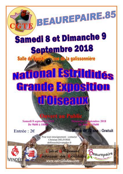 National estrildidés, Beaurepairele 8 et 9 septembre 2018 Nation10