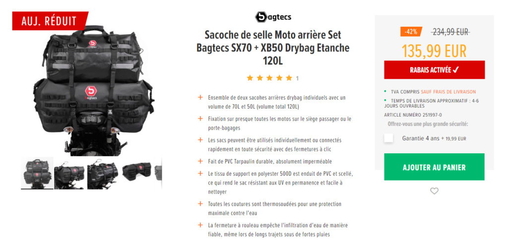 Promo bagagerie 50% Nouvel21