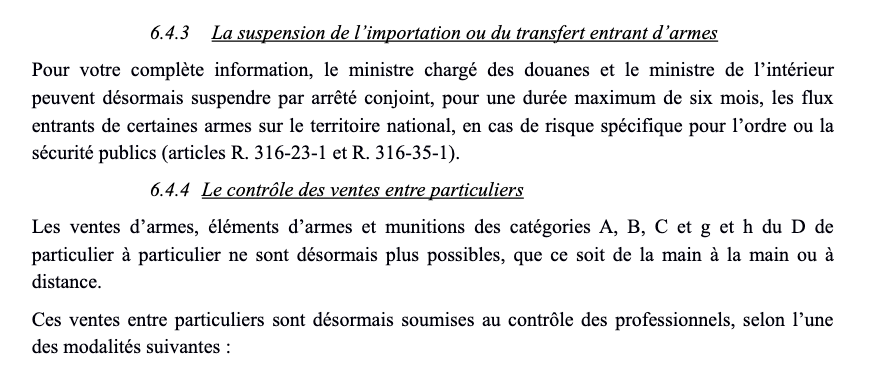 legislation:vente d'éléments de munitions entre particulier Captur10