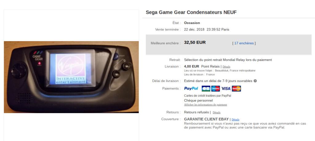 [estimation] combien vaut une game gear Screen35
