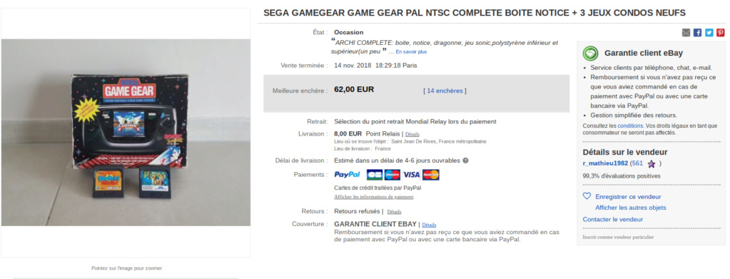 [estimation] combien vaut une game gear Screen38