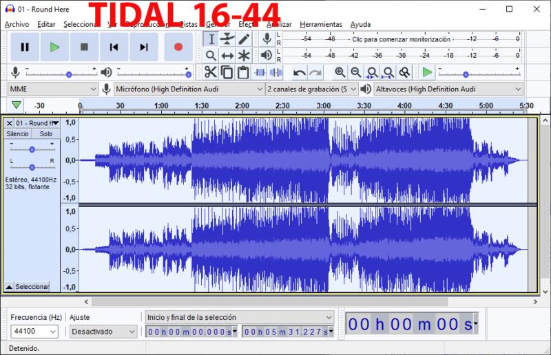 Algunos álbumes suenan peor en Tidal que el original en FLAC - Página 3 Tidal10