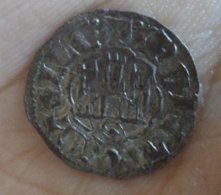 Dinero de Alfonso X de la 2ª guerra de Granada. Sevilla 215