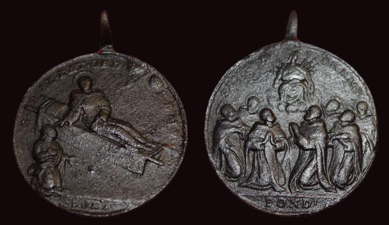 San Pelegrino Laziosi / Siete santos Servitas , s.XVIII 111