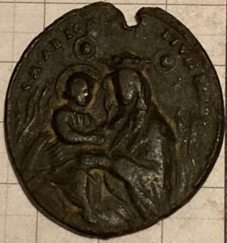 Medalla Madonna del Fuoco / San Peregrino Laziosi. S. XVIII 1b953c11