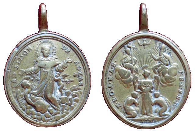 Beato Simón de Roxas / Santísima Trinidad y ángel redentor de cautivos. (R.M. SXVIII-O402) 30a10