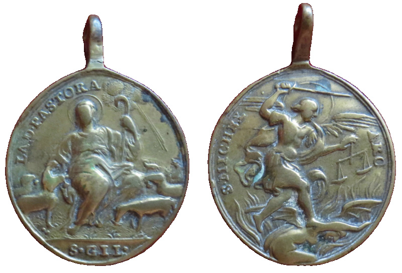 Divina Pastora / San Miguel Arcángel, S. XVIII (R.M. SXVIII-O412) 33610