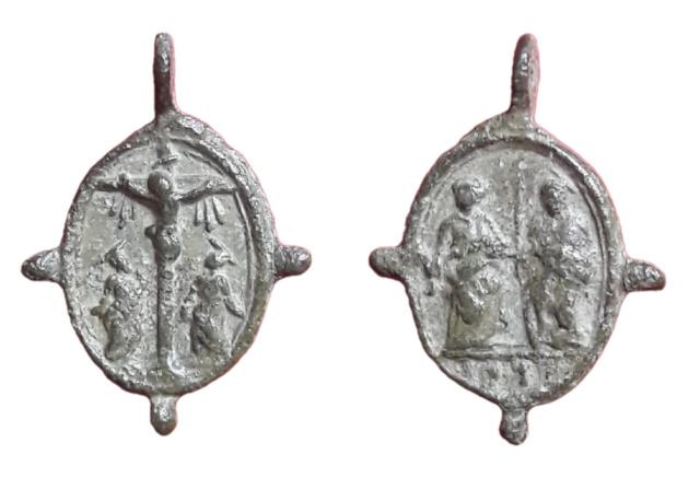 Crucifixión de Jesús / San Bernardino y santa Catalina de Siena, S. XVII 3410