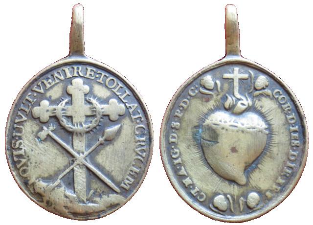 Cruz con Arma Christi / Sagrado Corazón de Jesús, (R.M. SXVIII-O427) 53310