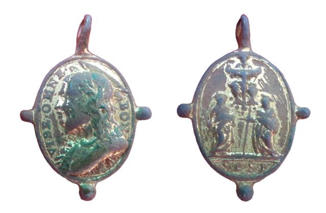 Cristo Salvador / SS. Pedro y Pablo, s. XVII ( pezuelada) (R.M. Pe Salvator 24) 6910