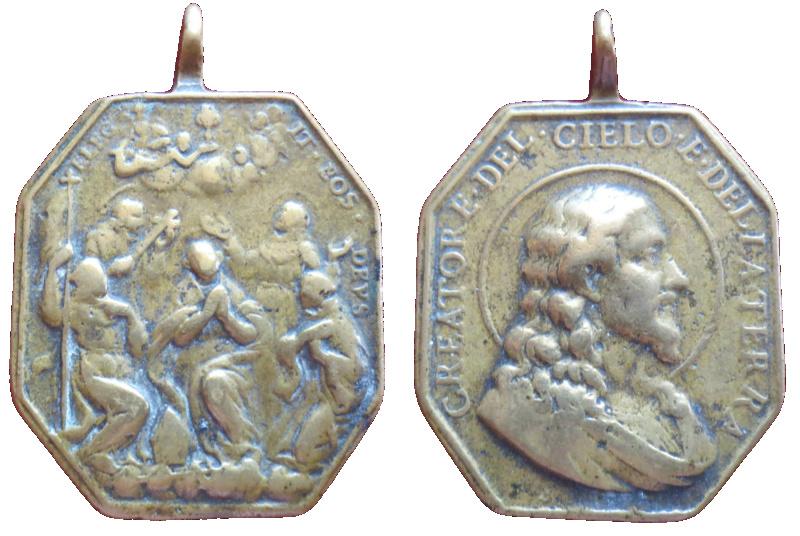 Salvator Mundi / Cinco santos canonizados en 1690 (R.M. SXVII-P134) 72910