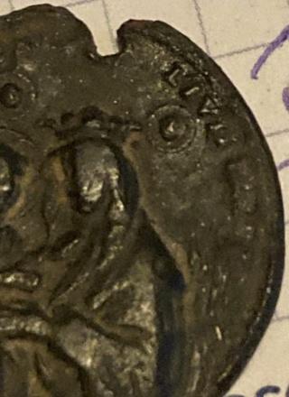 Medalla Madonna del Fuoco / San Peregrino Laziosi. S. XVIII D6c0f310