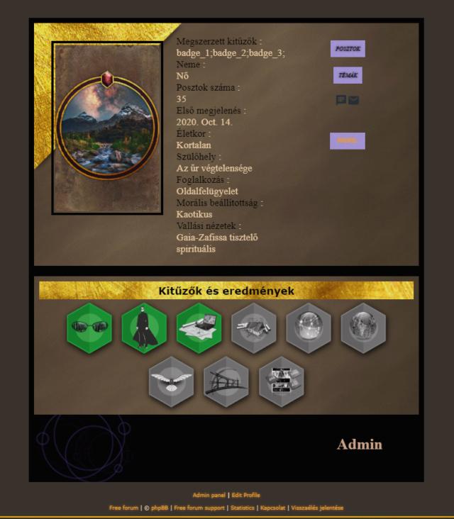 Le Système de Badges fait disparaître le profil de l'utilisateur Unknow13