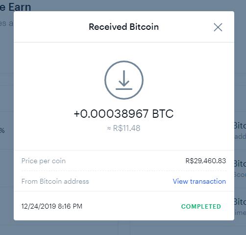 Oportunidade [Provado] Blockstack 1$ em BTC +80k sats pagos Coinba10