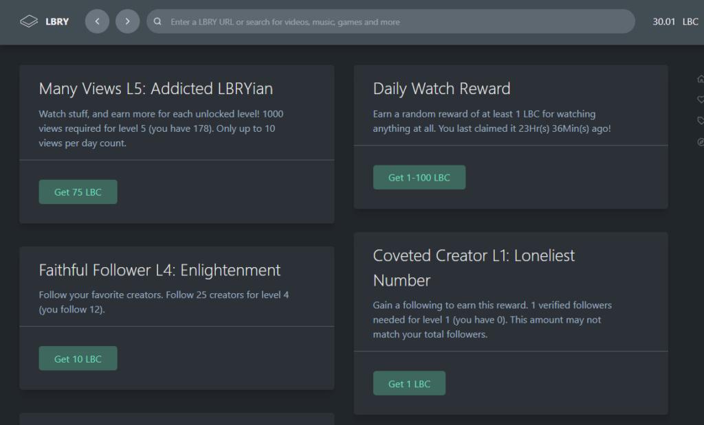 [Testar] LBRY Credits 50 moedas + recompensas diárias.  Lbry_r10