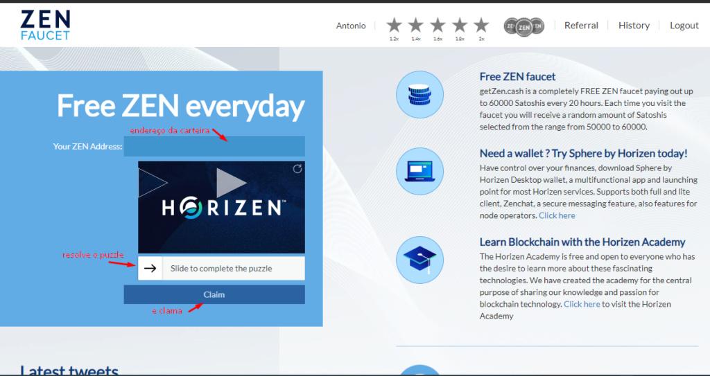 Oportunidade - [Provado] Horizen Faucet.  Zen_fa12