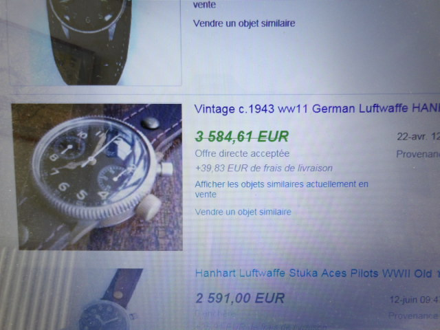Estimation montre Hanhart Luftwaffe WW2 Pilot 100_4110
