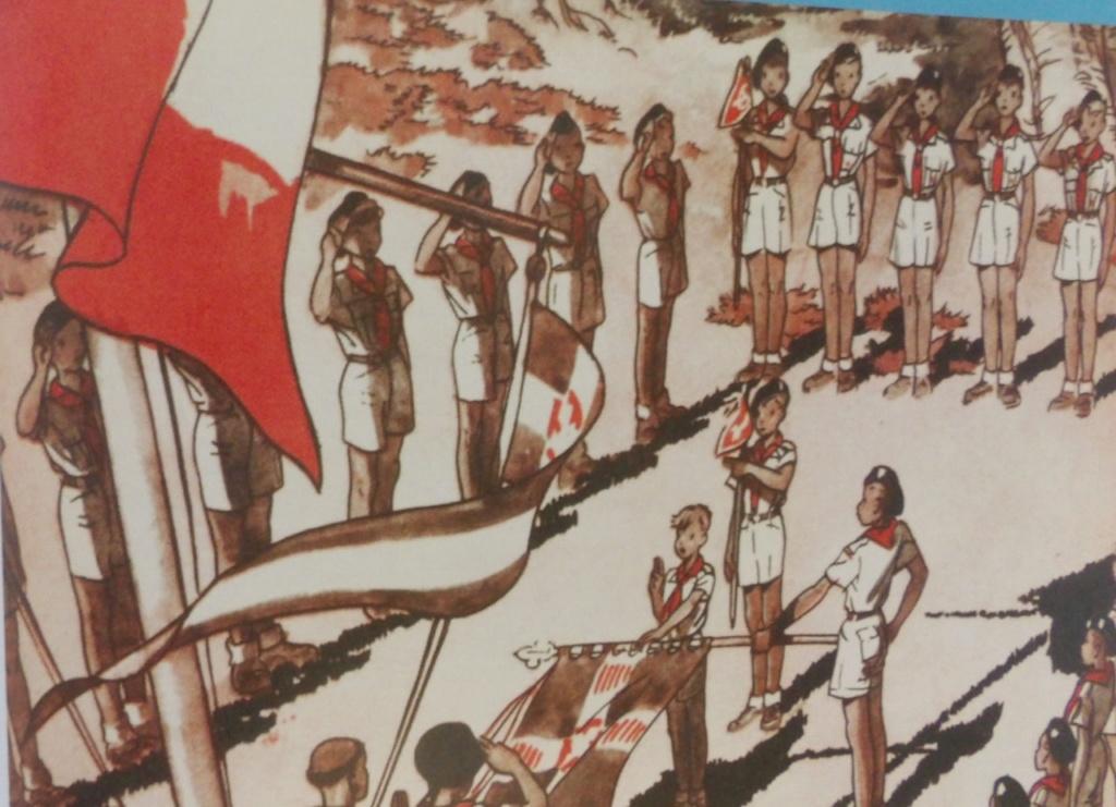 village tentes militaires, drapeau français, MARINE ? chantier de jeunesse ? 100_5413