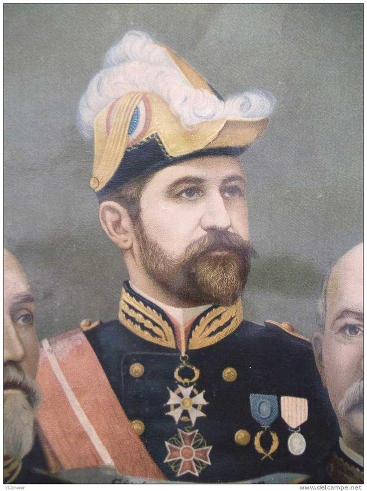 Beau Portrait au Pastel d'un Maréchal, Général décoré ?  738_bo10