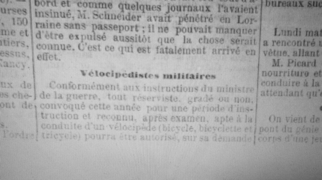 Brevet de vélocipèdiste 1901 Articl10