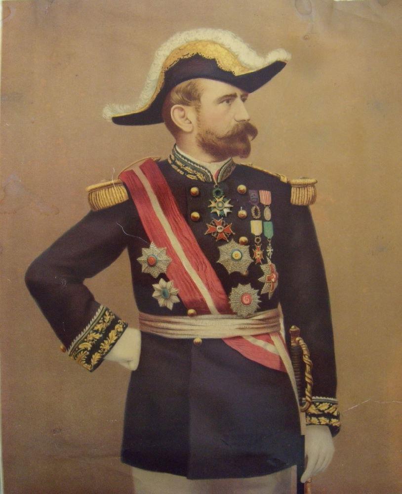 Beau Portrait au Pastel d'un Maréchal, Général décoré ?  Bf865410
